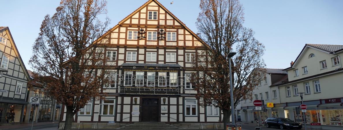 Banner Rathaus I Winter